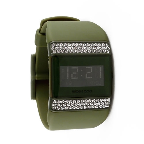 Wize and Ope Classic  Khaki Digital  Watch WO-ALL-5S