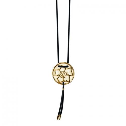 Nicky Vankets Gold Logo Pendant Necklace