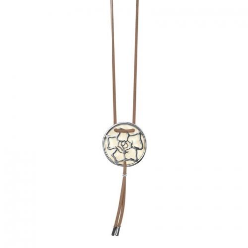 Nicky Vankets Silver Logo Pendant Necklace