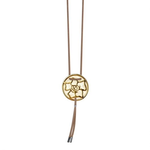 Nicky Vankets Gold Logo Pendant Necklace
