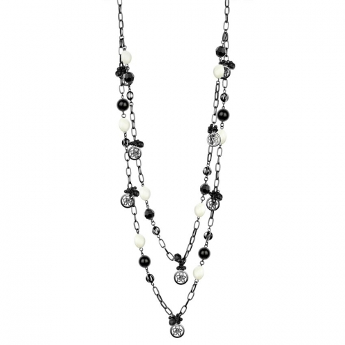 Nicky Vankets Pearl and Silver Necklace