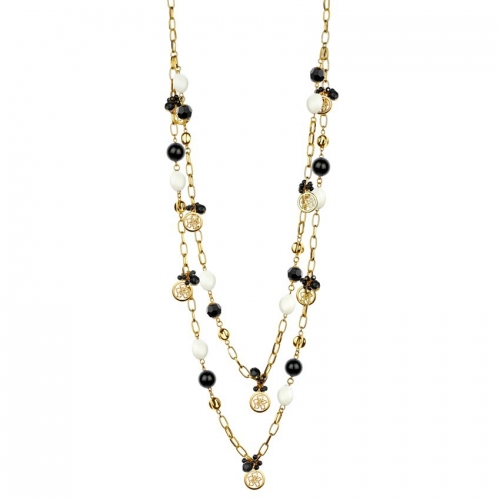 Nicky Vankets Pearl and Gold Necklace