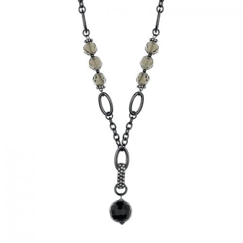 Nicky Vankets Black Drop Necklace
