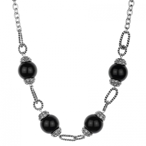 Nicky Vankets Black Pearl Necklace