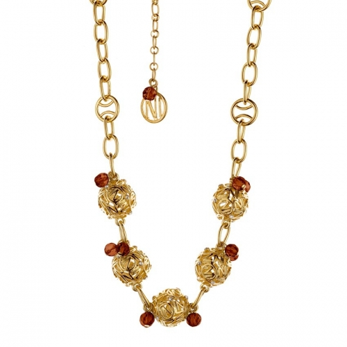Nicky Vankets Gold Openwork Necklace