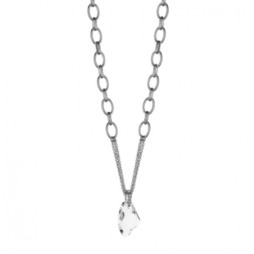 Nicky Vankets Clear Pendant Necklace