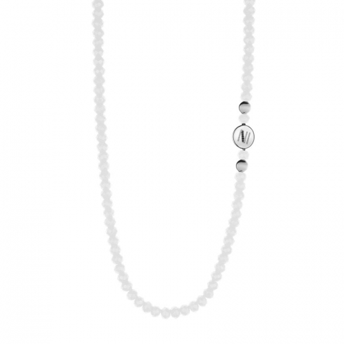Nicky Vankets White Beaded Necklace