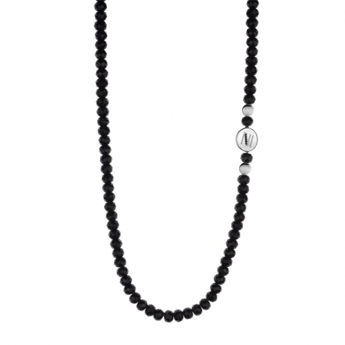 Nicky Vankets Black Beaded Necklace