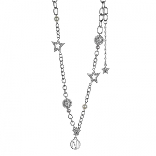 Nicky Vankets Silver Star and Shamballa Necklace
