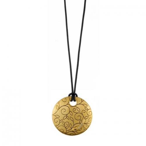 Nicky Vankets Flower Disc Necklace
