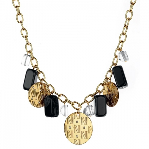 Nicky Vankets Gold Multi Dangle Necklace