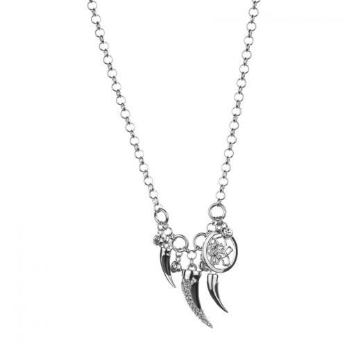 Nicky Vankets Silver Claw Dangle Necklace