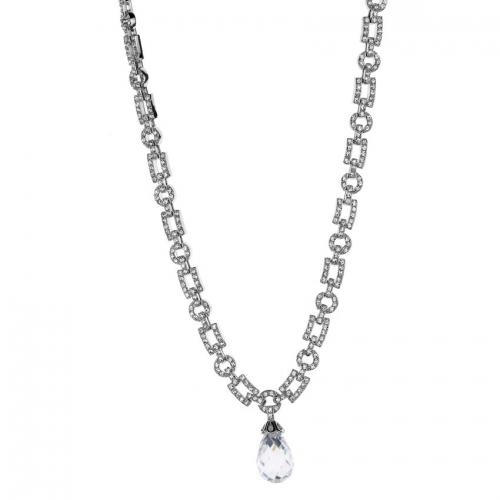 Nicky Vankets Silver CZ Necklace