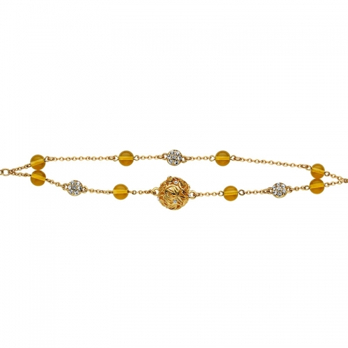 Nicky Vankets Gold and CZ Bracelet