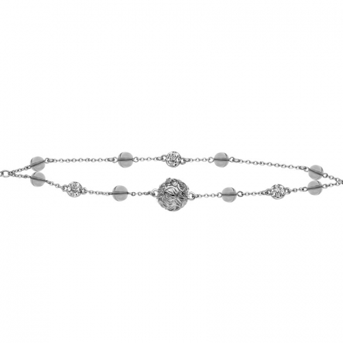 Nicky Vankets Silver and CZ Bracelet
