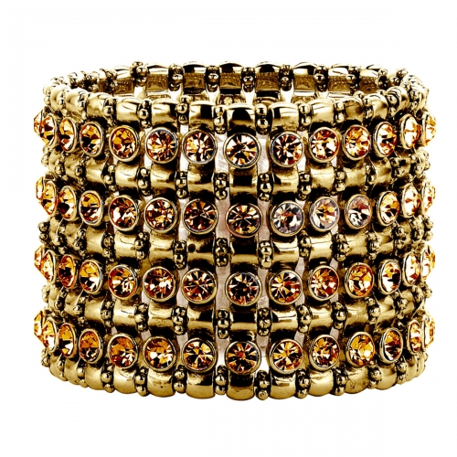 Nicky Vankets Gold Beads and CZ Stack Bracelet