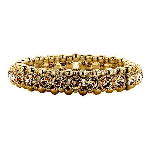 Nicky Vankets Gold Beads and CZ Bracelet
