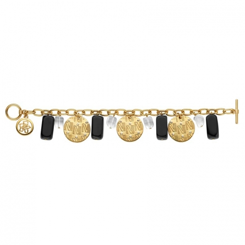 Nicky Vankets Gold Disc Dangle Bracelet
