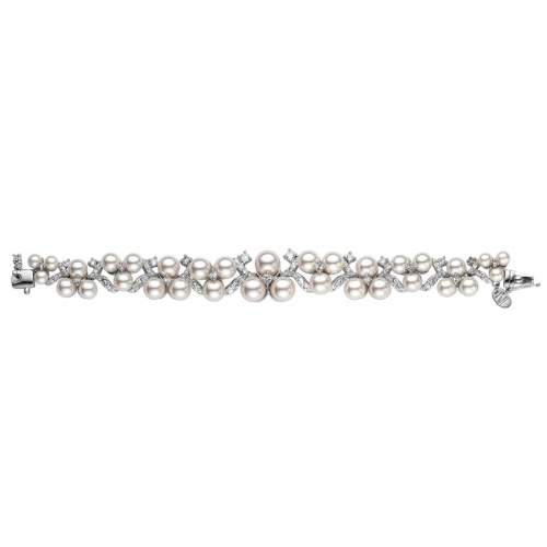 Nicky Vankets Pearl and CZ Bracelet