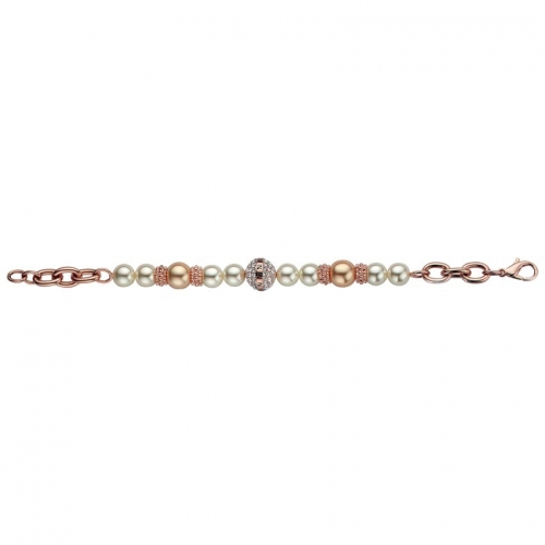 Nicky Vankets Rose Gold and Pearl Bracelet