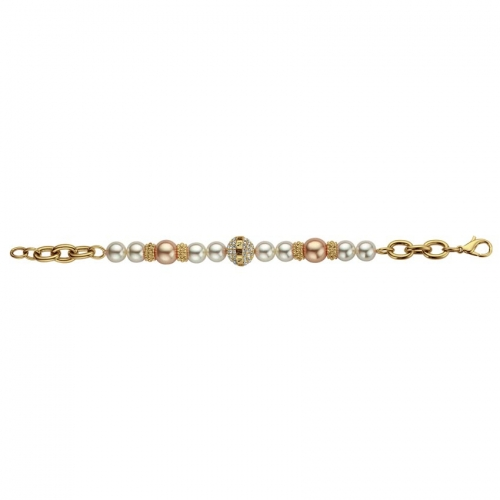 Nicky Vankets Gold and Pearl Bracelet