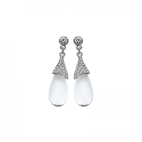 Nicky Vankets Silver CZ Drop Earrings