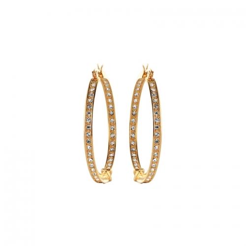 Nicky Vankets CZ Set Gold Hoop Earrings
