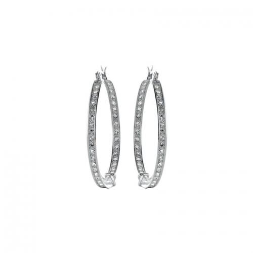 Nicky Vankets CZ Set Silver Hoop Earrings