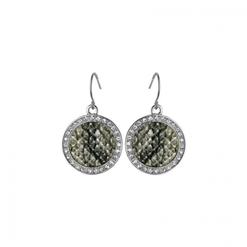 Nicky Vankets Snake Skin Disc Dangle Earrings