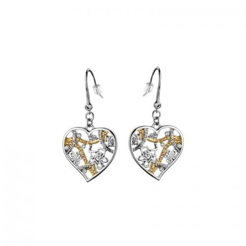 Nicky Vankets Heart Dangle Earrings