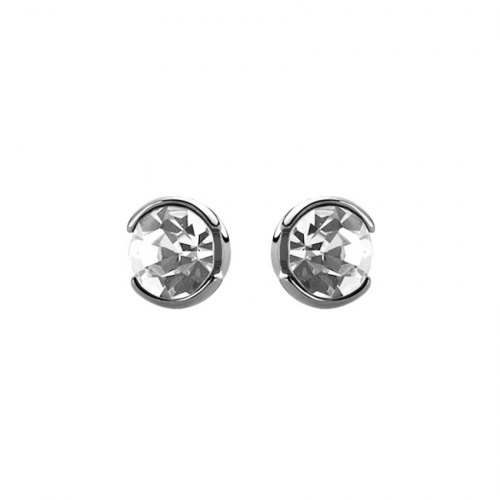 Nicky Vankets Round Cut CZ Earrings Studs