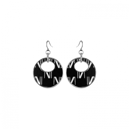 Nicky Vankets Silver Disc Earrings