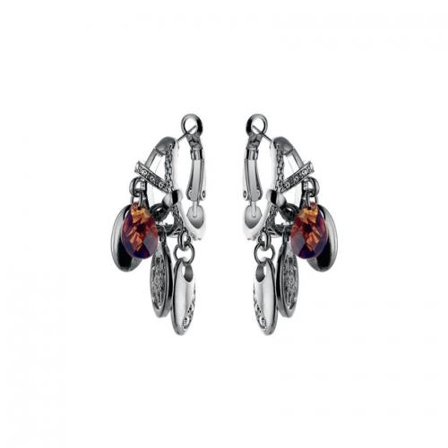 Nicky Vankets Silver Disc Dangle Earrings