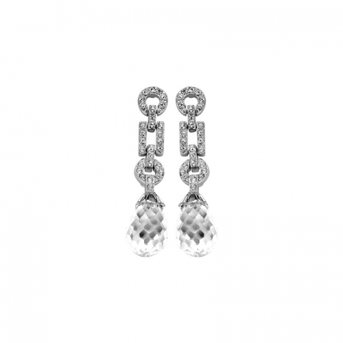Nicky Vankets Silver Multi Shape CZ Earrings