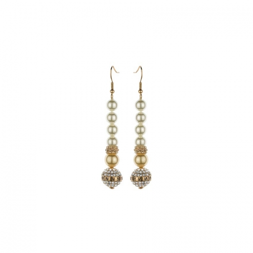 Nicky Vankets Rose Pearl Drop Earrings