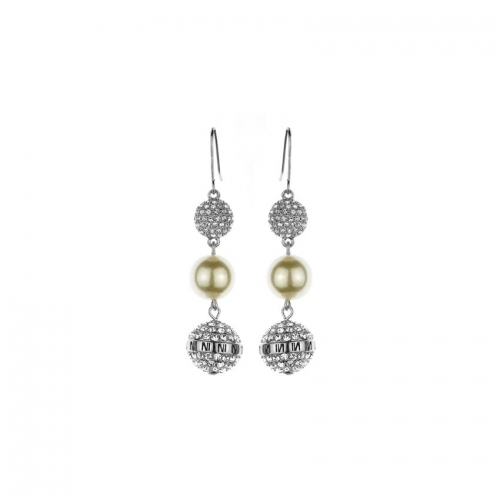 Nicky Vankets Silver CZ Dangle Earrings