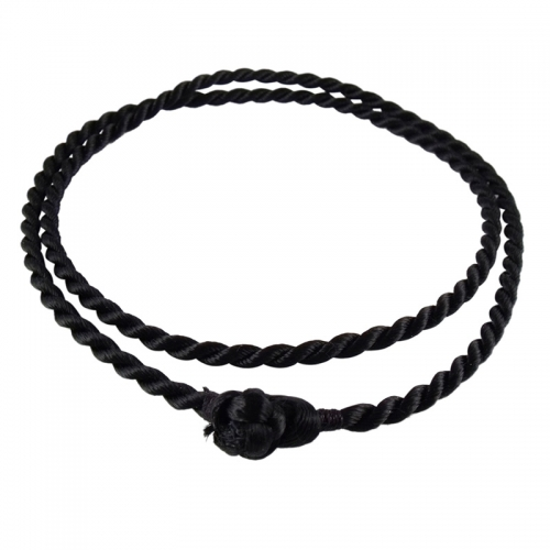 Storywheels Black Rayon Cord 42cm Necklace RCBLK