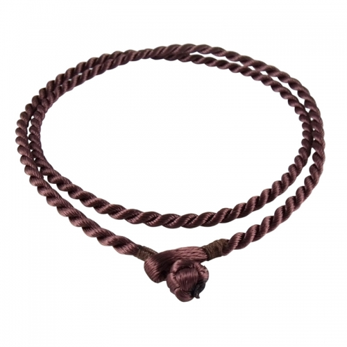Storywheels Brown Rayon Cord 42cm Necklace RCBRO