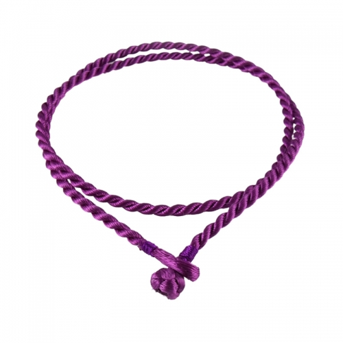 Storywheels Purple Rayon Cord 42cm Necklace RCPUR