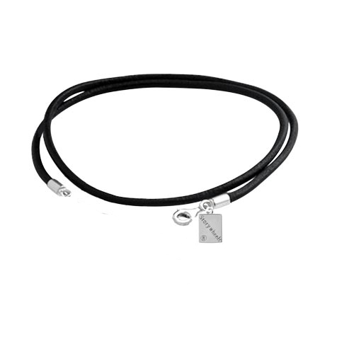 Storywheels Black Leather 40cm Necklace with Lobster Clasp N002BLK