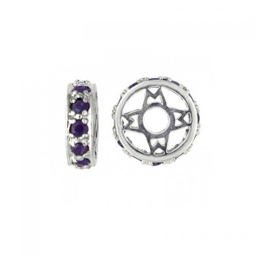 Storywheels Silver & Sapphire Wheel Charm S117S