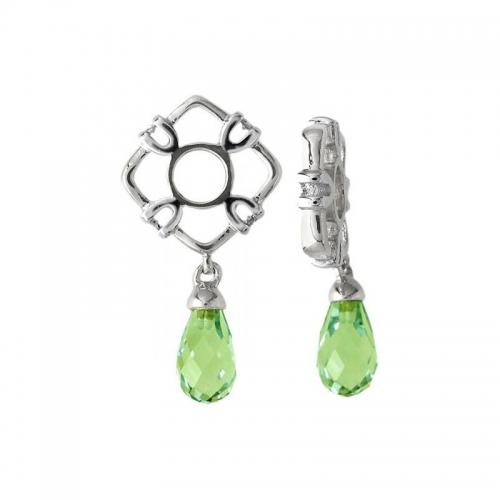 Storywheels Silver & Peridot Teardrop Dangle Charm S121P
