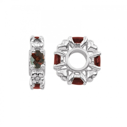 Storywheels January Birthstone Silver Wheel Charm S348G