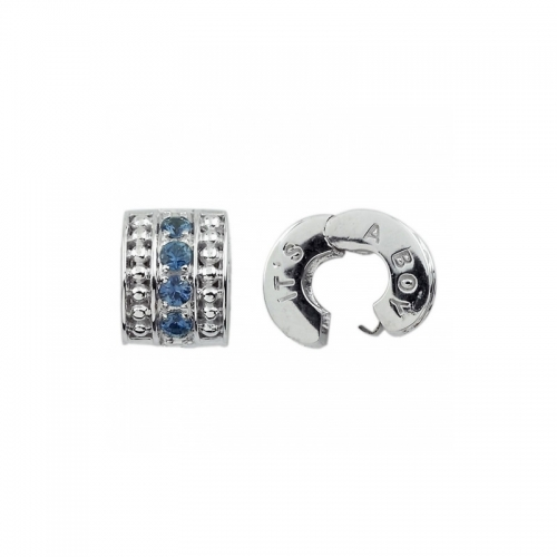 Storywheels Silver 'It's a Boy' Sapphire Clip S330SC
