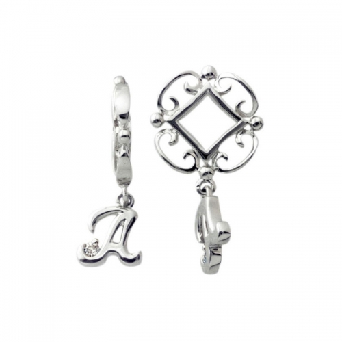 Storywheels Silver and Diamond 'A' Initial Wheel