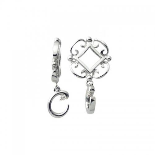 Storywheels Silver and Diamond Initial 'C' Wheel