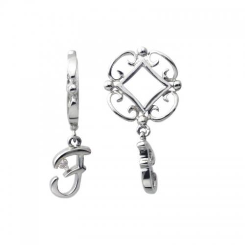 Storywheels Silver and Diamond Initial 'F' Wheel