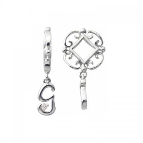 Storywheels Silver and Diamond Initial 'G' Wheel