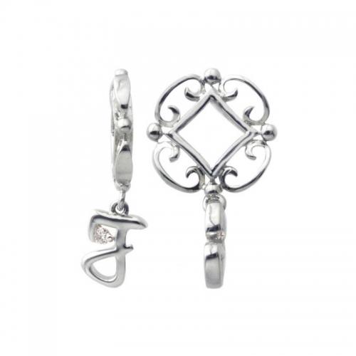 Storywheels Silver and Diamond Initial 'J' Wheel