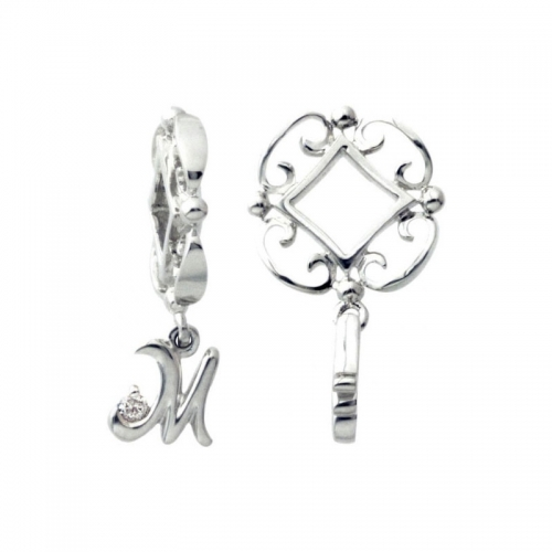 Storywheels Silver and Diamond Initial 'M' Wheel